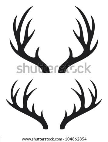 Stock Photo deer horns