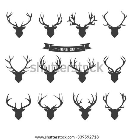 Deer horns label set