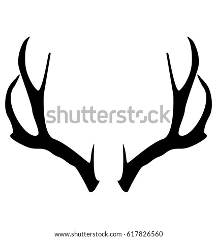 Deer horns vector design EPS 10