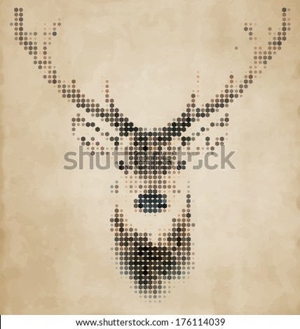deer portrait made of...