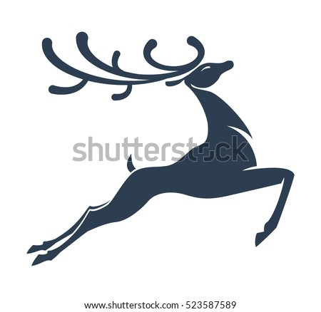 stock-vector-deer-silhouette-christmas-or-new-year