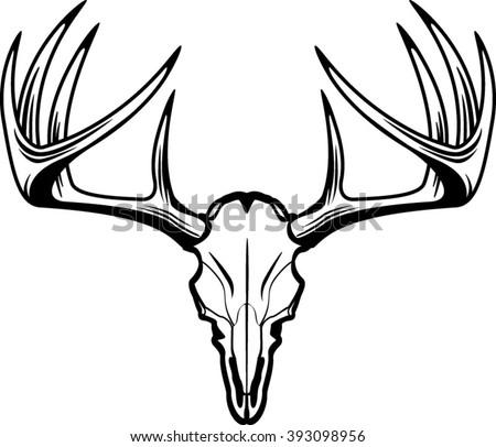 deer skull vector download free vector art stock graphics images rh vecteezy com deer skull vector free mule deer skull vector