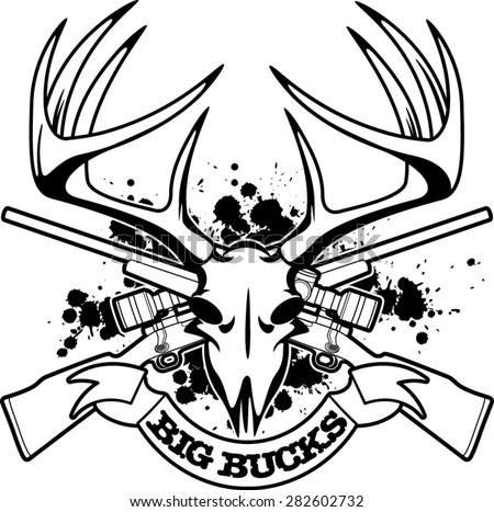 Deer Skull Vector Download Free Vector Art Stock Graphics Images