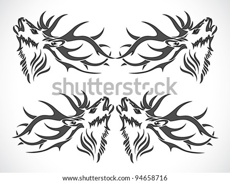 Tribal Elk Tattoo http://www.shutterstock.com/pic-94658716/stock-vector-deer-tattoo-vector-illustration.html