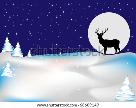 Deer under the moonlight