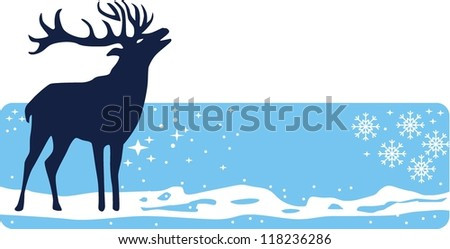 deer,vector image isolated on  background