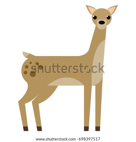 deer wild animal flat icon