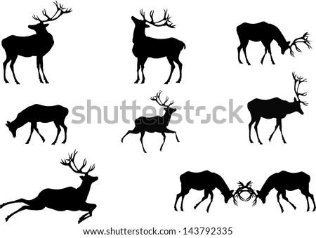 deers silhouettes