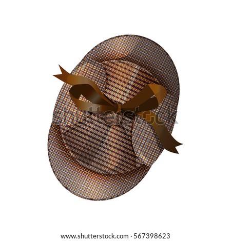 deerstalker cap in the style of