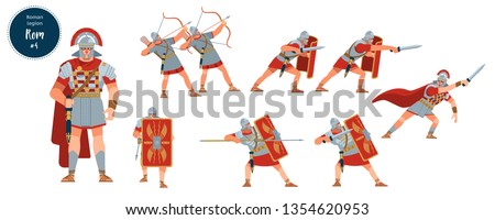 defeat of the roman army dying