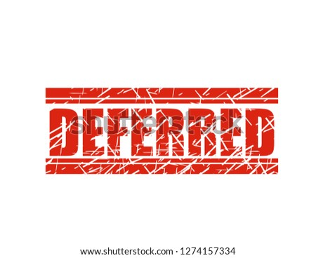 Deferred red stamp