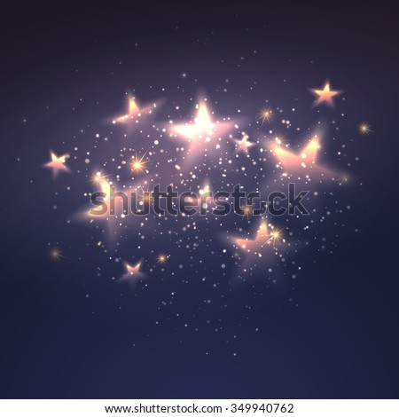 defocused magic star background