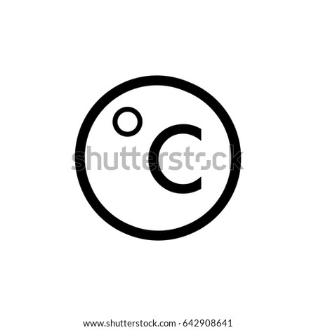 degrees Celsius vector icon. Weather icon isolated on white.