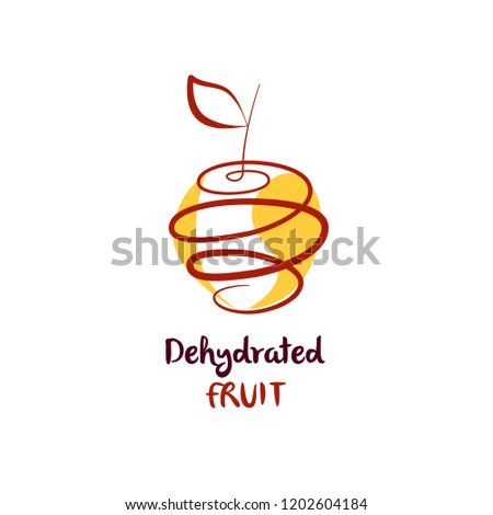 dehydrate fruit logo abstract