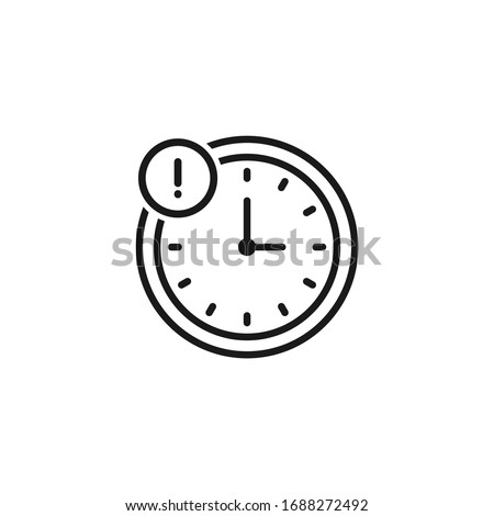 Delay icon design isolated on white background. Vector illustration Сток-фото ©