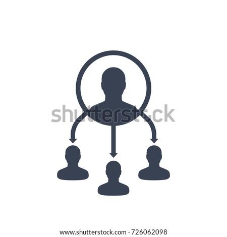 delegate vector icon