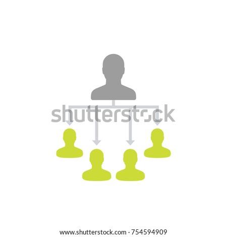 delegation, delegating work vector illustration