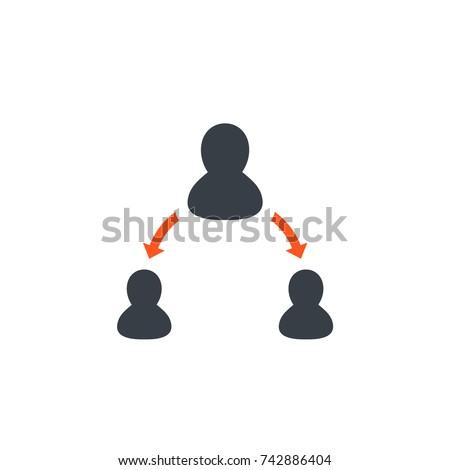 delegation icon on white