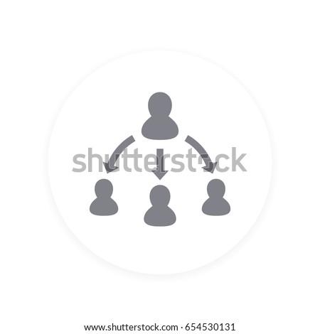 delegation icon, pictogram