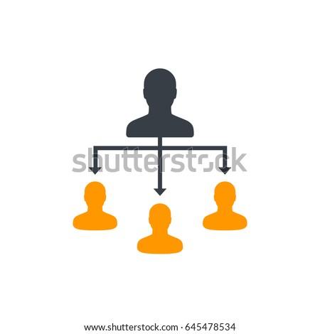 delegation, vector illustration