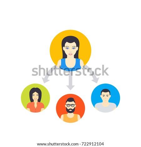 delegation vector illustration