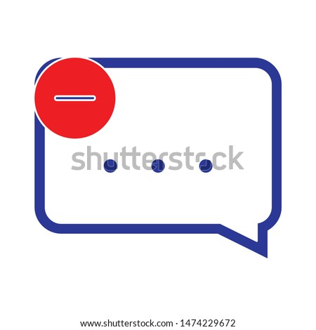 delete chat icon. flat illustration of delete chat vector icon. delete chat sign symbol