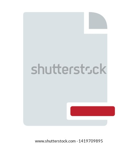 delete document icon. flat illustration of delete document vector icon for web