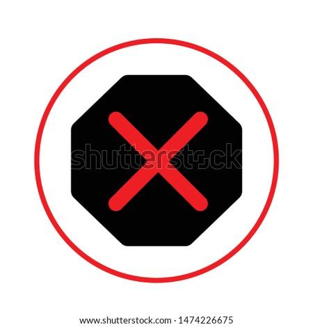 Delete icon. flat illustration of Delete vector icon. Delete sign symbol