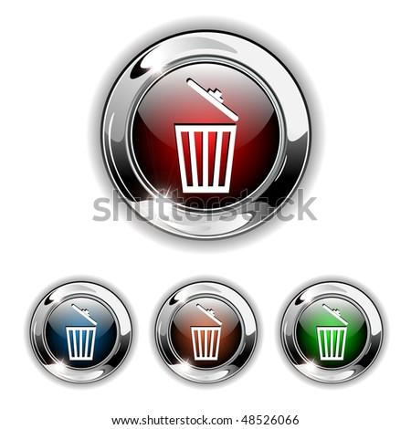 Basket, clear, delete, eraser, recycle bin, remove, trash icon |Delete Trash Button Icon