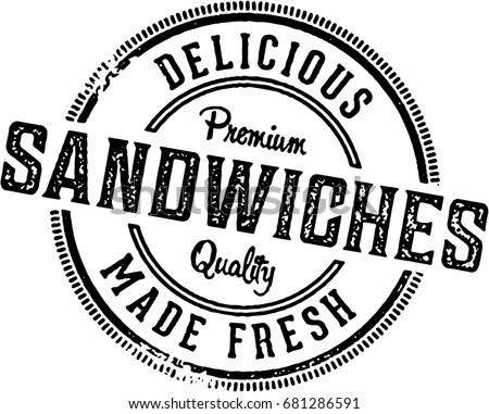 deli sandwiches vintage...