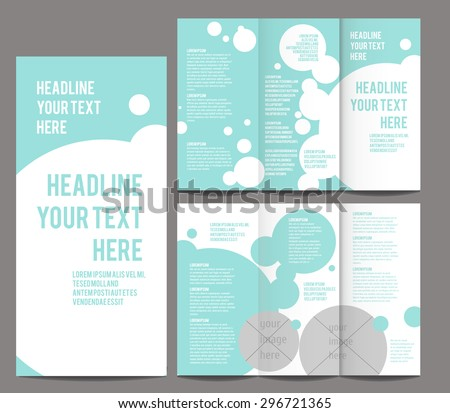 colorful circle abstract trifold brochure design download free