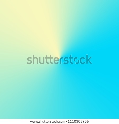 Delicate conical gradient with yellow and blue color