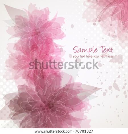 Delicate floral background, vector illustration