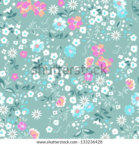 delicate floral seamless background