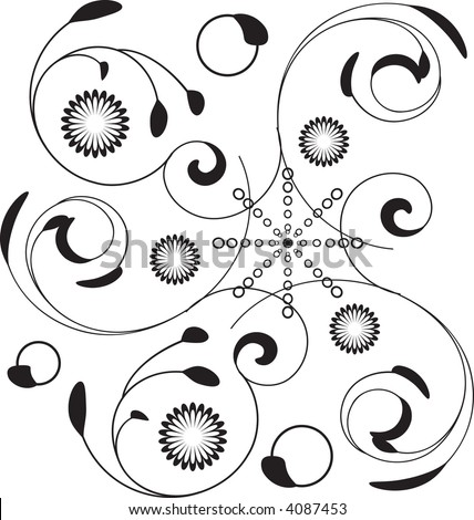 Delicate floral square tile design in vector format.