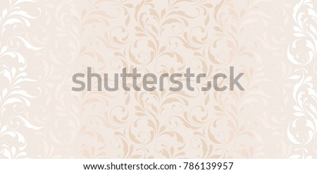 Delicate floral texture. Seamless ornamental pattern for design wrapping, textile, wallpaper, paper. Soft flowery background.