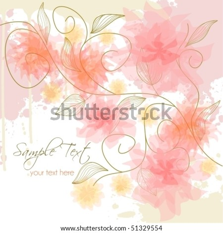 Delicate flower background, raster version also available in my portfolio