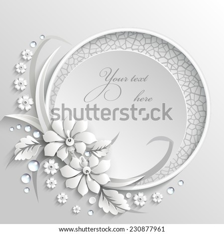 delicate frame with 3d white