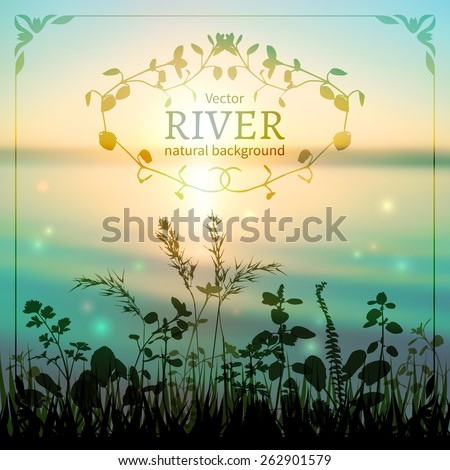 delicate nature background with