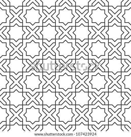 Delicate Pattern In Islamic StyleSeamless Vector
