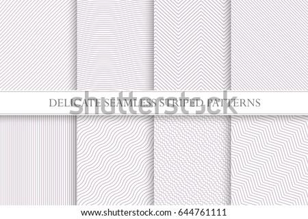 delicate seamless striped