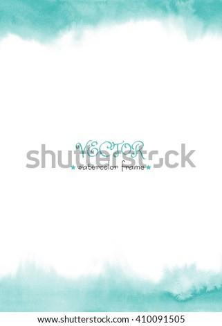 delicate watercolor frame blue