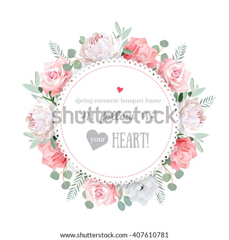 delicate wedding floral vector