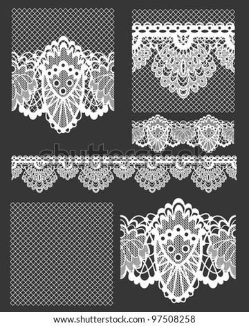 delicate white lace seamless...