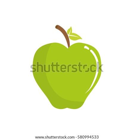delicious apple fruit icon