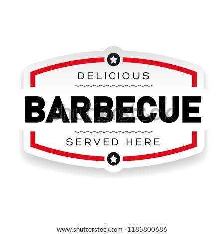 Delicious Barbecue vintage sign