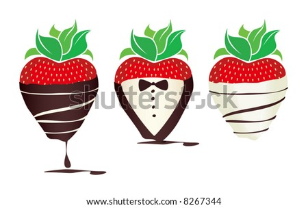 Delicious chocolate-covered Strawberry Icons.
