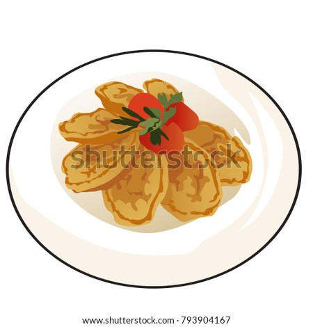 delicious fried pancakes or