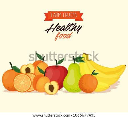 delicious fruits healthy food #1066679435