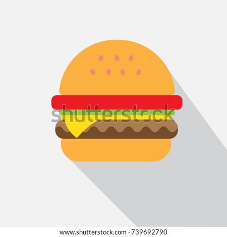 Delicious hamburger icons